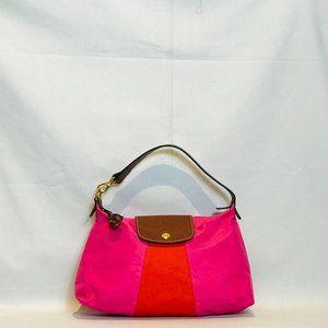 Longchamp Red Pink Nylon Mini Handle bag